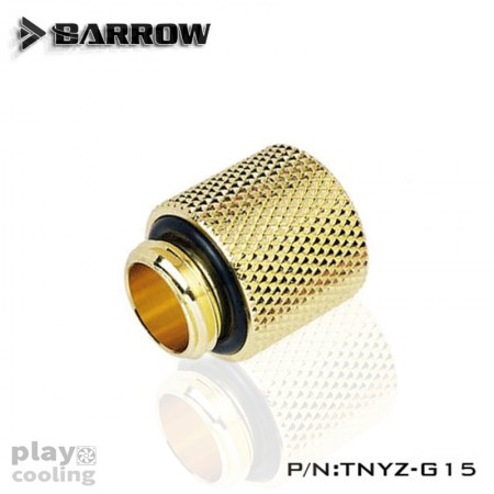 Barrow Male to Female Extender  - 15mm gold