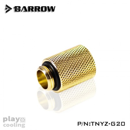 Barrow Male to Female Extender  - 20mm Gold
