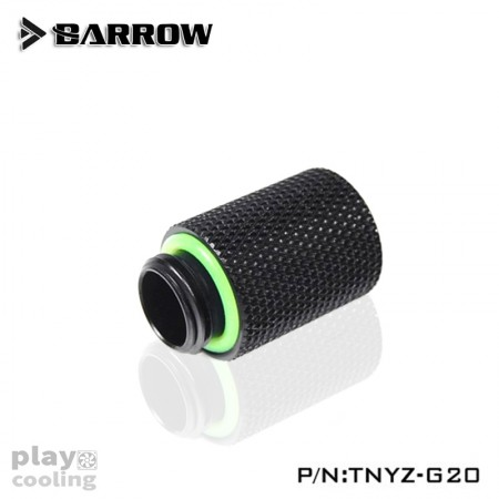 Barrow Male to Female Extender - 20mm black