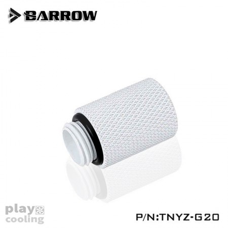 Barrow Male to Female Extender - 20mm white