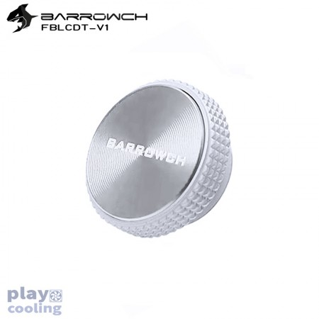 Barrowch Multicolor New CD Composite plate Finish Stop Plug Fitting  (matt silver-White)