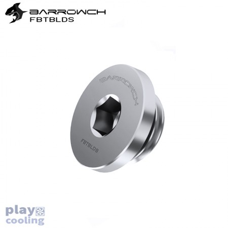Barrowch ultra-thin Inner six angle Stop Plug Fitting Matt Silver