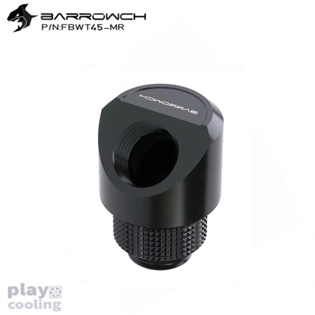 Barrowch 45°Rotary Adapter with smooth surface Black