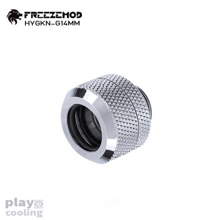 Feeeze Mod OD14mm Hard Tube Fitting Silver