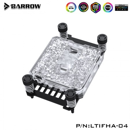 Barrow Icicle series CPU Water Block  for AMD platform (Acrylic Edition) รับประกัน 1 ปี