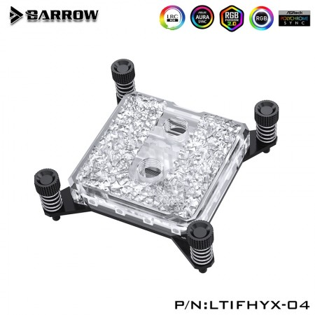 Barrow Icicle series CPU Water Block for INTEL X99/X299 platform (Acrylic Edition) รับประกัน 1 ปี