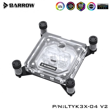 Barrow X99/ X299 platform Acrylic Aurora CPU water block (รับประกัน 1 ปี)
