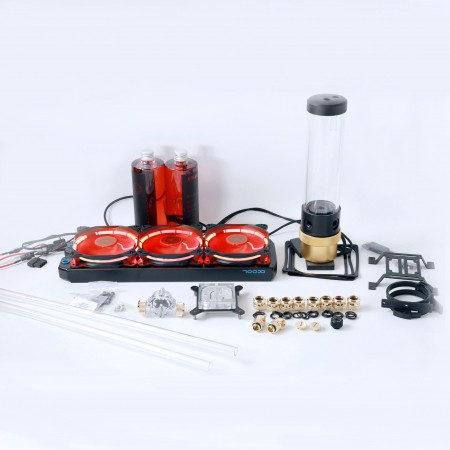 Premium Gold D5 Hard Tube 14mm Water Cooling Ki