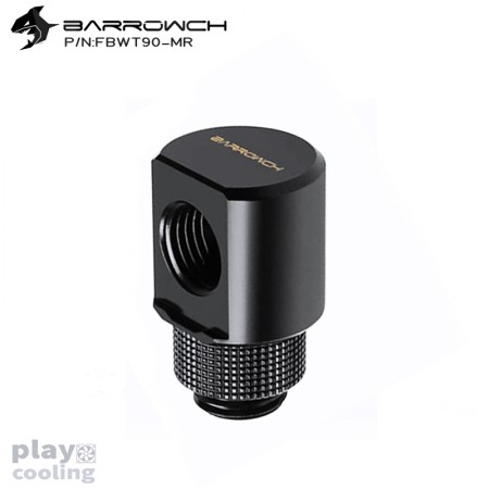 Barrowch 90°Rotary Adapter with smooth surface Black