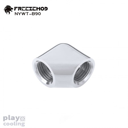 Freeze Mod 90 Degree Female to Felame Adapter Silver