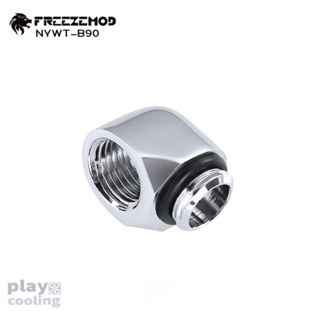 Freeze Mod thread 90 Degree Adapter Silver