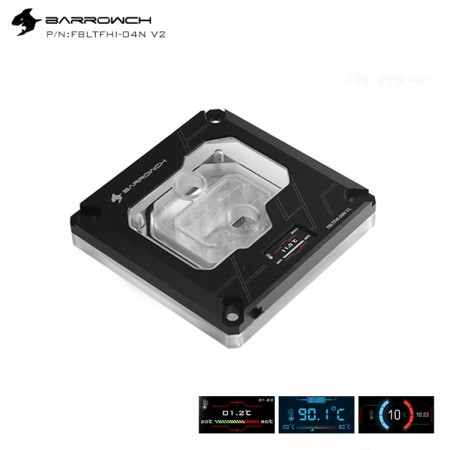 Barrowch 1151/1200 x99/x299 platform Color screen version digital display  CPU water block Black (รับประกัน 1 ปี)