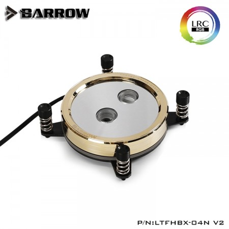 Barrow real Gold limited edition CPU water block for INTEL platform Black (ผิวเคลือบชุบเคลือบทอง 24K)