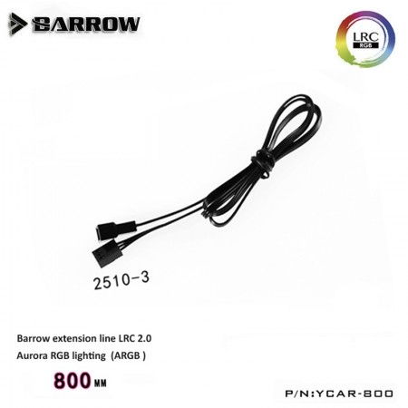 Barrow LRC 2.0 Aurora RGB lighting assembly special extension line 800MM (สายเพิ่มความยาว Barrow RGB LRC 2.0)
