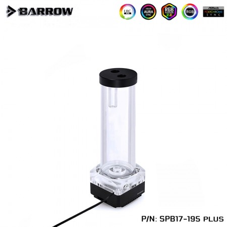 Barrow pump SPB17 PLUS 195MM (DDC) transparent-Black (รับประกัน 1ปี)