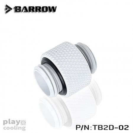 "Barrow Dual Male G1/4"" Extender white"