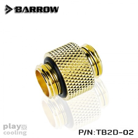 "Barrow Dual Male G1/4"" Extender gold"