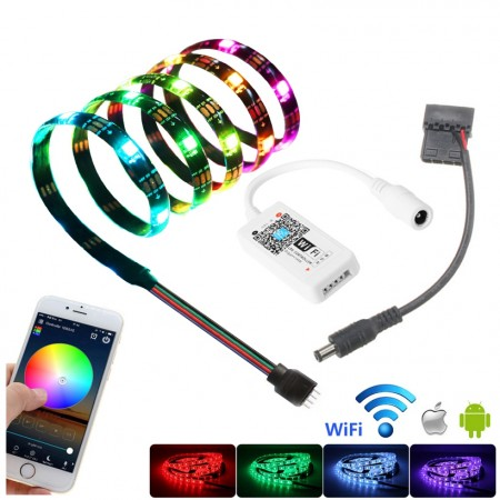 LED RGB Strip Light Smart Control WIFI 1M (ควบคุมผ่านแอป)
