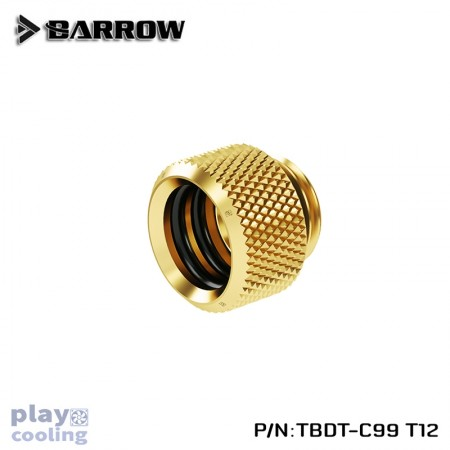 Barrow Push-in Fitting - OD:12mm Rigid Tubing gold