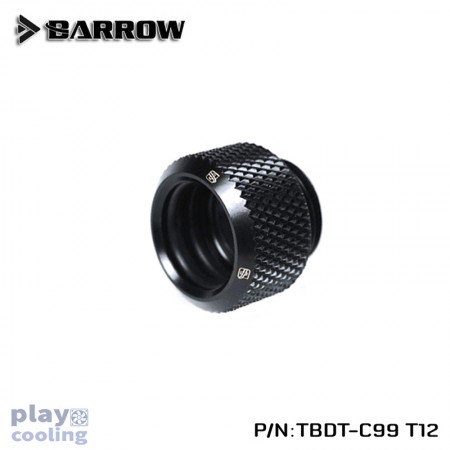Barrow Push-in Fitting - OD:12mm Rigid Tubing Black
