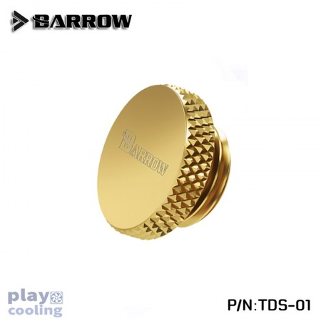 Barrow Stop Plug Fitting- Hand Turned Gold