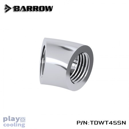 Barrow 45°Adapter ( Female to Felame ) silver