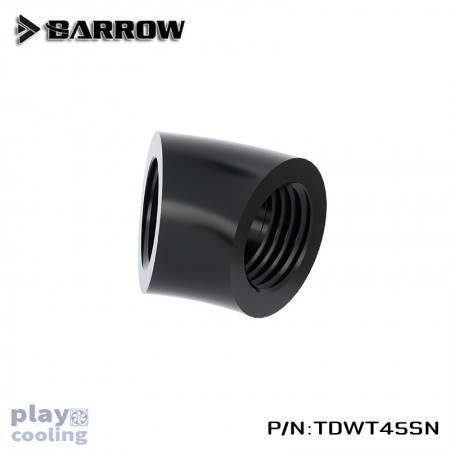 Barrow 45°Adapter ( Female to Felame ) Black