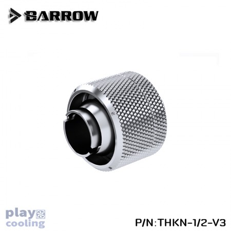 Barrow Compression Fitting(ID1/2-OD3/4)Soft Tubing silver