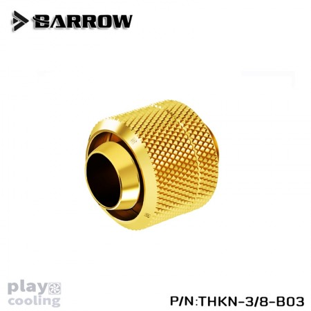 Barrow Compression Fitting (ID3/8-OD1/2) Soft Tubing gold