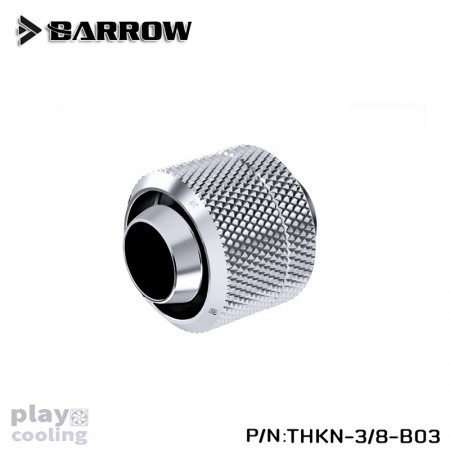 Barrow Compression Fitting (ID3/8-OD1/2) Soft Tubing Silver