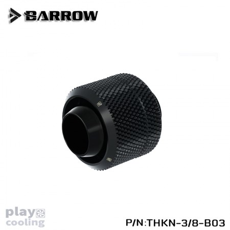 Barrow Compression Fitting (ID3/8-OD1/2) Soft Tubing Black