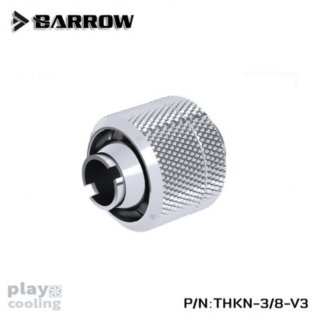 Barrow Compression Fitting (ID3/8-OD5/8) Soft Tubing silver