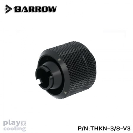 Barrow Compression Fitting (ID3/8-OD5/8) Soft Tubing Black