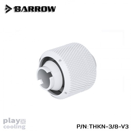 Barrow Compression Fitting (ID3/8-OD5/8) Soft Tubing White