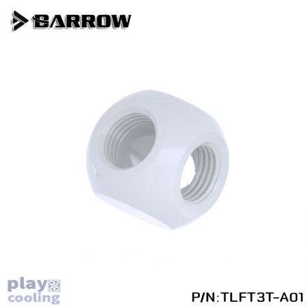 Barrow Metalic Cube Tee - 3Way White