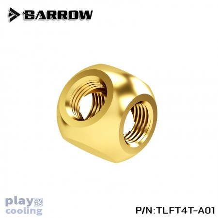 Barrow Metalic Cube Tee - 4Way Gold