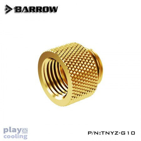 Barrow Male to Female Extender  - 10mm gold