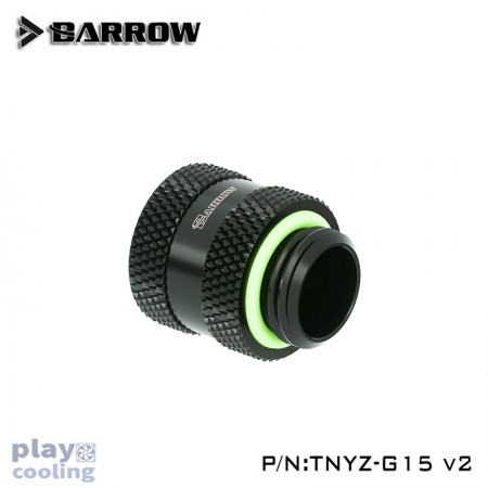 Barrow Male to Female Extender V2 - 15mm Black