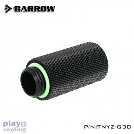 Barrow Male to Female Extender - 30mm Black