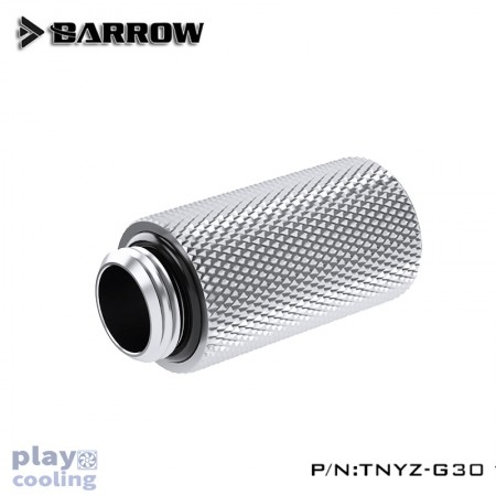 Barrow Male to Female Extender - 30mm silver