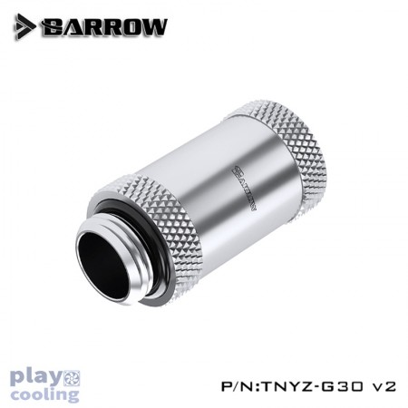 Barrow Male to Female Extender v2 - 30mm silver