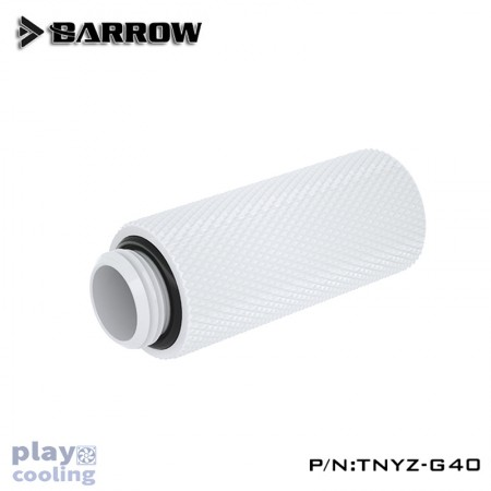 Barrow Male to Female Extender - 40mm white