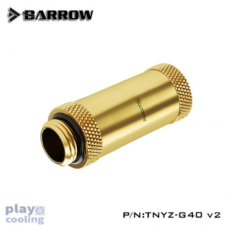 Barrow Male to Female Extender v2 - 40mm Gold