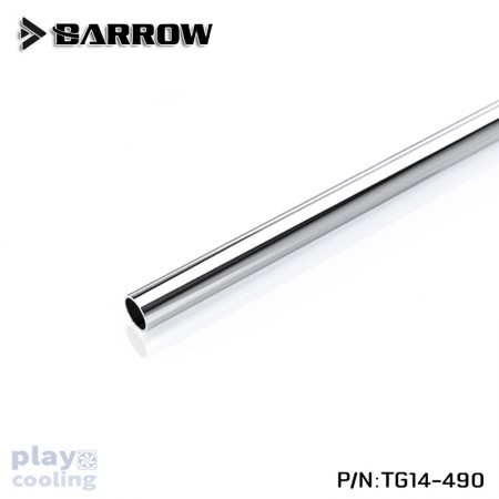 Barrow 14*12 Copper Chrome Plated Metal Rigid Tube ID:12MM OD:14MM Length - 490MM