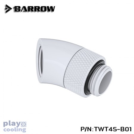 Barrow 45°Rotary Adapter (Male to Female) white