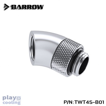 Barrow 45°Rotary Adapter (Male to Female) silver