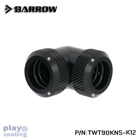 Barrow Double hard tube 90° Multi-Link Adapter 12mm Black