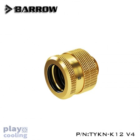Barrow Compression Fitting  V4 - 12mm gold