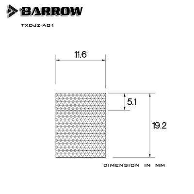 Barrow Rotary Female To Female Extender Silver