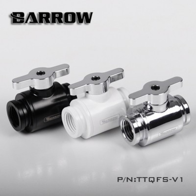 Barrow Mini Valve (with Brass plated handle-Silver shiny) White